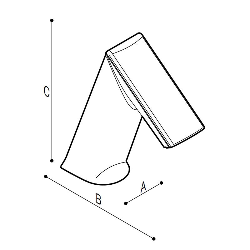 Disegno Miscelatore elettronico touch-free Disegno Tecnico H51GBE11