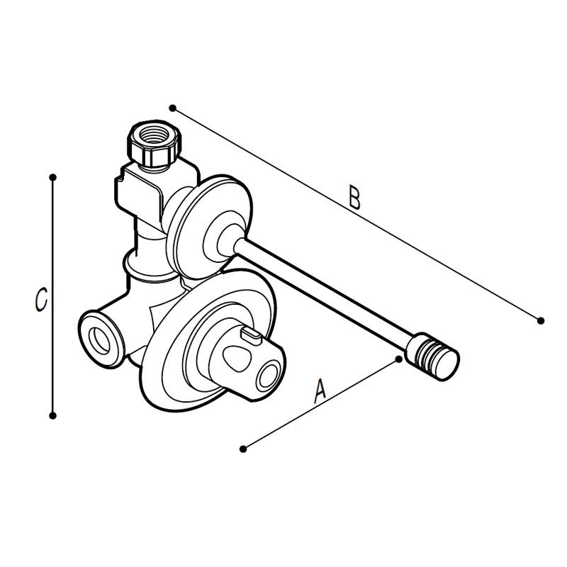 Disegno Miscelatore termostatico Disegno Tecnico H51GDS08