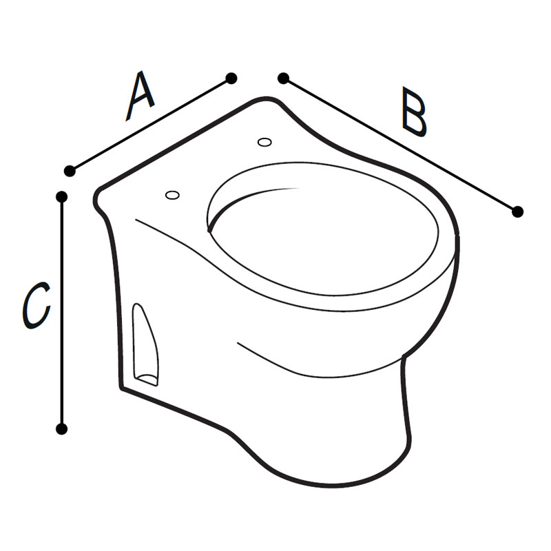 Draw Floor standing WC-bowl for children use Technical Drawing B44CBS01