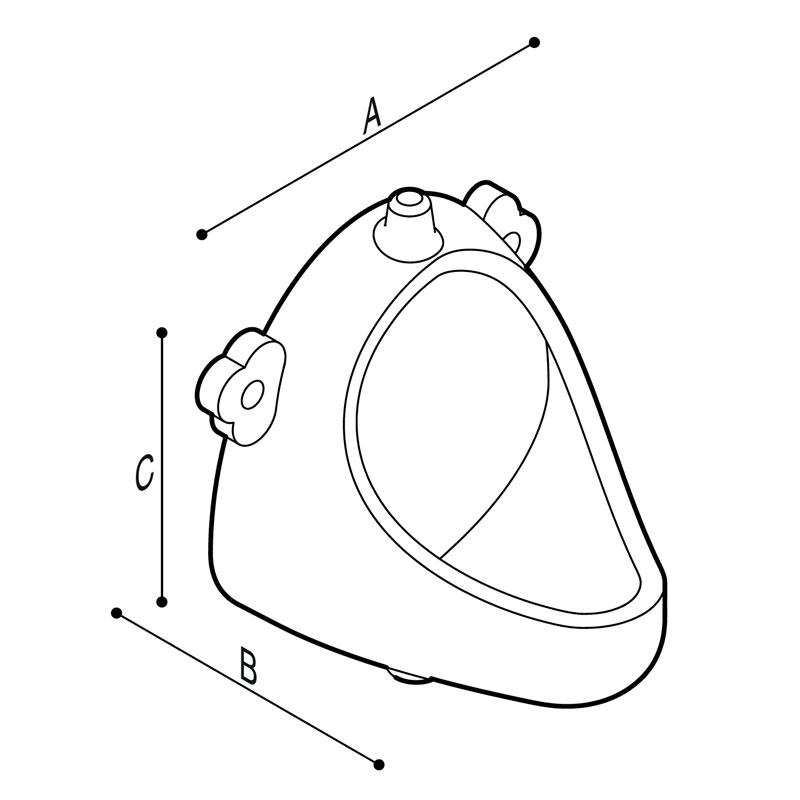 Draw Urinal, child Technical Drawing B44CQD13