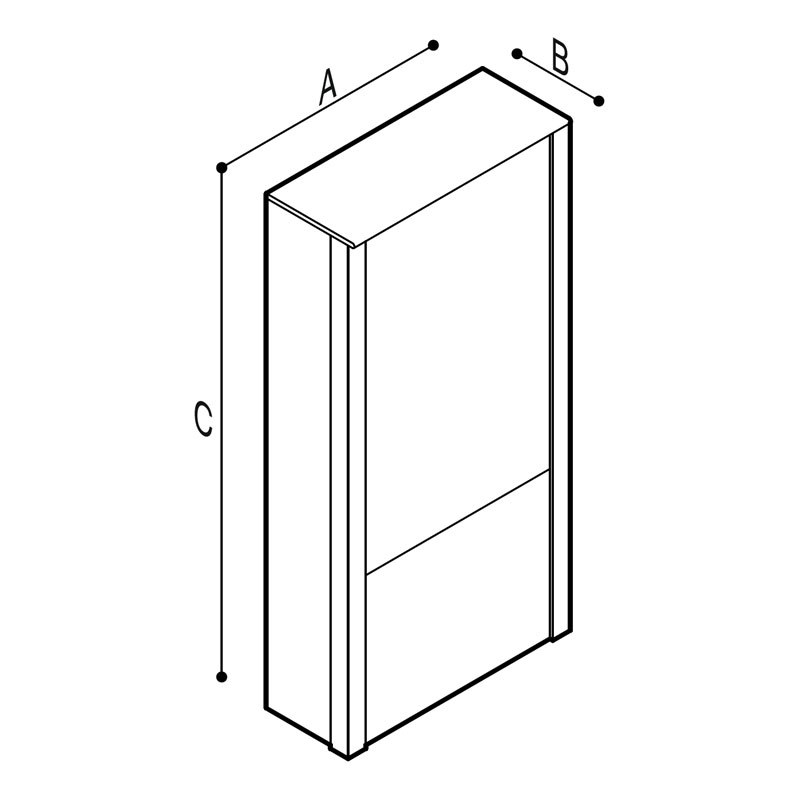 Draw WC-bowl supporting module Technical Drawing B41EBD01