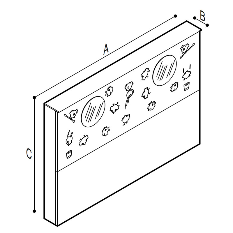 Draw Wash basin supporting module Technical Drawing B41EBD15