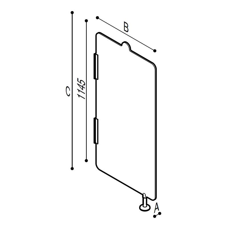Disegno Parete divisoria per orinatoio Disegno Tecnico B41EES11