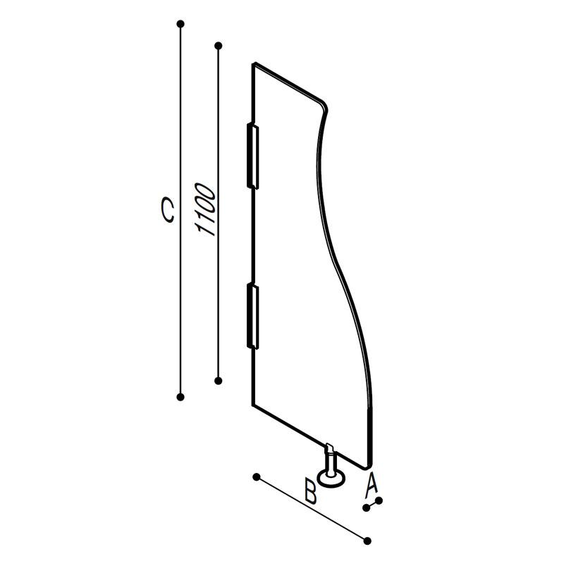 Disegno Parete divisoria per orinatoio Disegno Tecnico B41EES01
