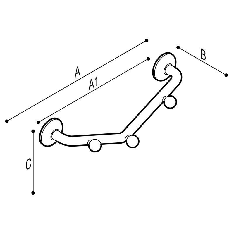 Draw V-shaped clothes hanger Technical Drawing G01JQS19