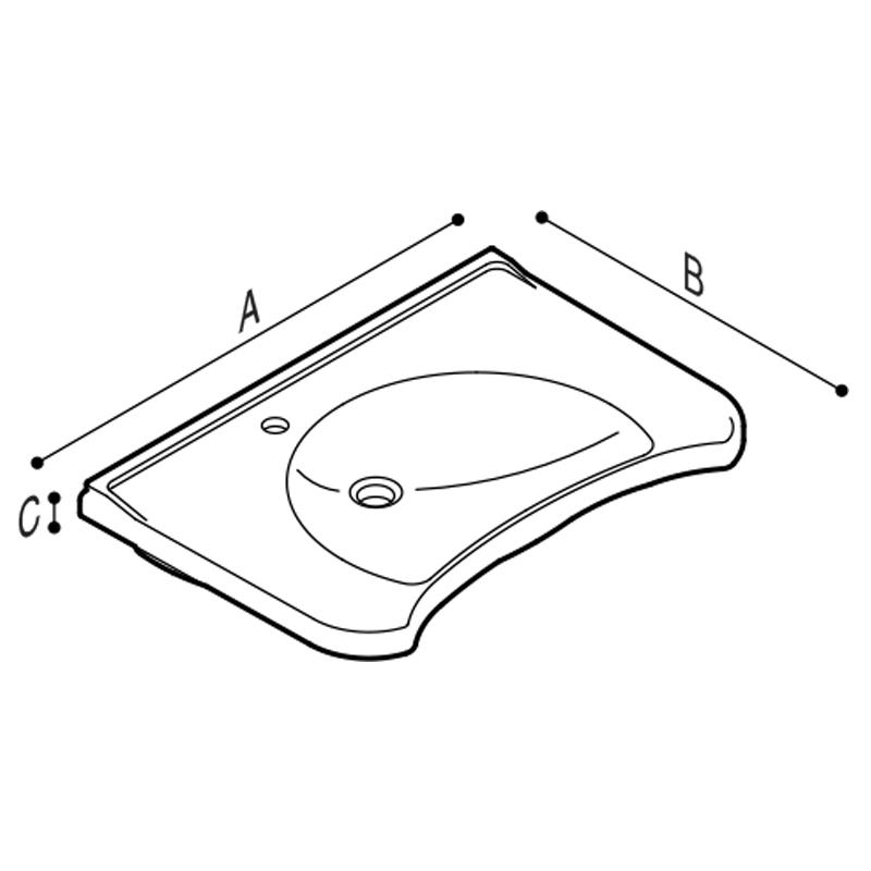Disegno Consolle ergonomica Disegno Tecnico B42CNS01