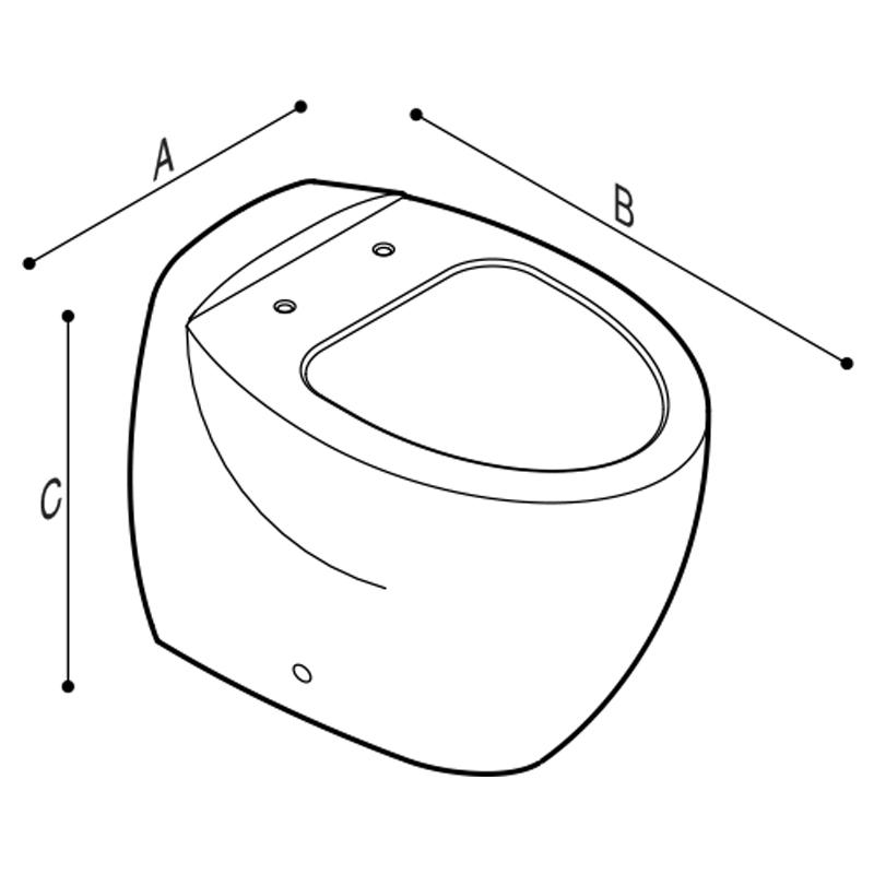 Disegno Vaso sanitario a pavimento Disegno Tecnico B43CBC01