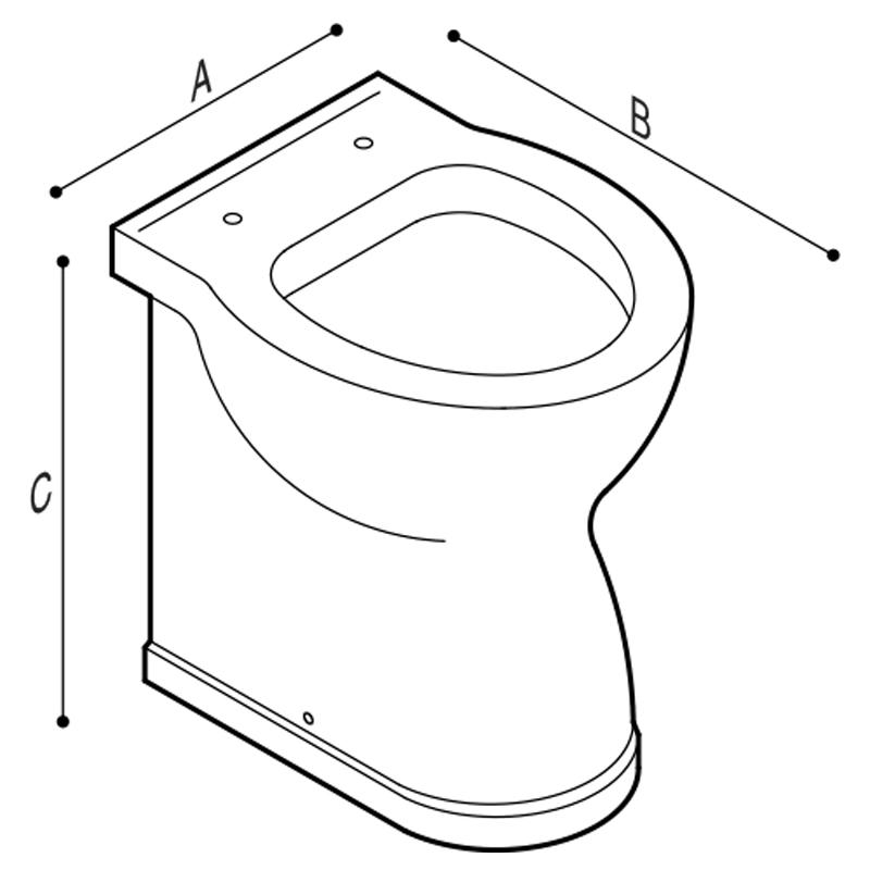 Disegno Vaso WC a pavimento Disegno Tecnico B43CBC03