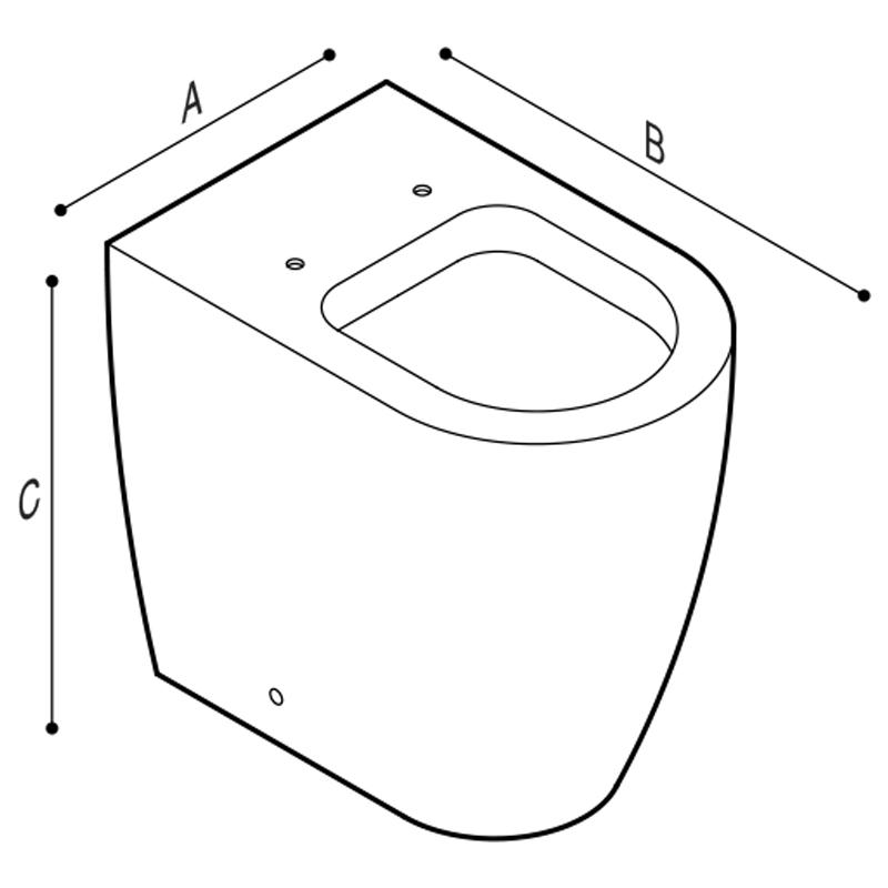 Disegno Vaso sanitario a pavimento Disegno Tecnico B43CBC04