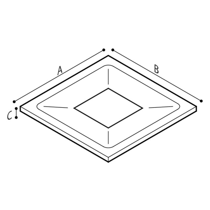 Disegno Piatto doccia Disegno Tecnico B46CPM50