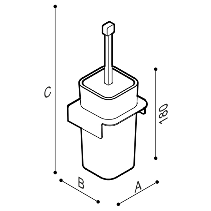 Draw Toilet brush holder Technical Drawing F18AHS01