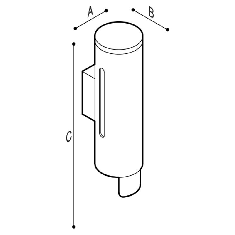 Disegno Distributore per sapone liquido 350ml Disegno Tecnico F47ACS01