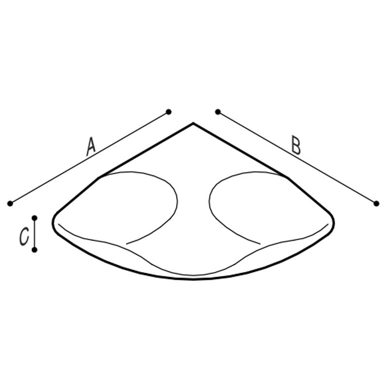 Disegno Poggia piedi Disegno Tecnico F47AOS03