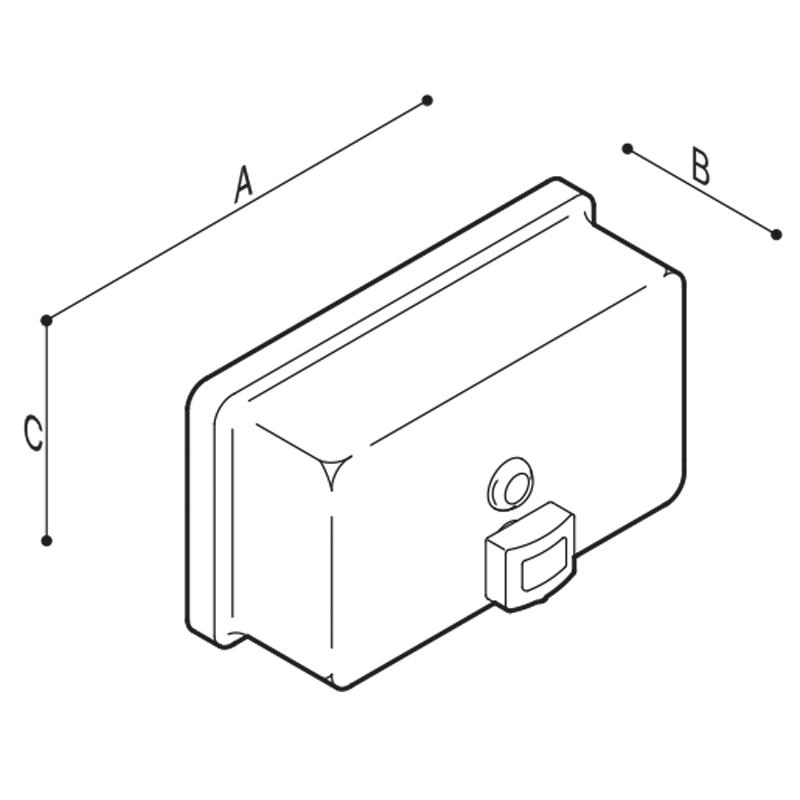 Disegno Dispenser per sapone liquido Disegno Tecnico F70ACS03