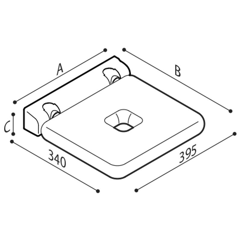 Disegno Sedile ribaltabile Disegno Tecnico G12JDS01