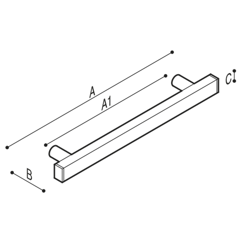 Draw Grab rail Technical Drawing G18JAS01