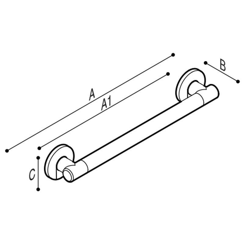 Draw Straight safety grab rail Technical Drawing G18UAS11