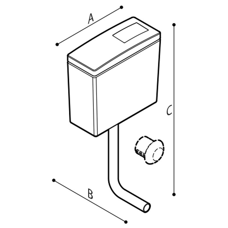 Disegno Cassetta di scarico esterna  Disegno Tecnico H52HJS02