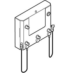 Disegno Quadro di comando a muro con doccette per disinfezione e lavaggio Disegno Tecnico M74MHS02