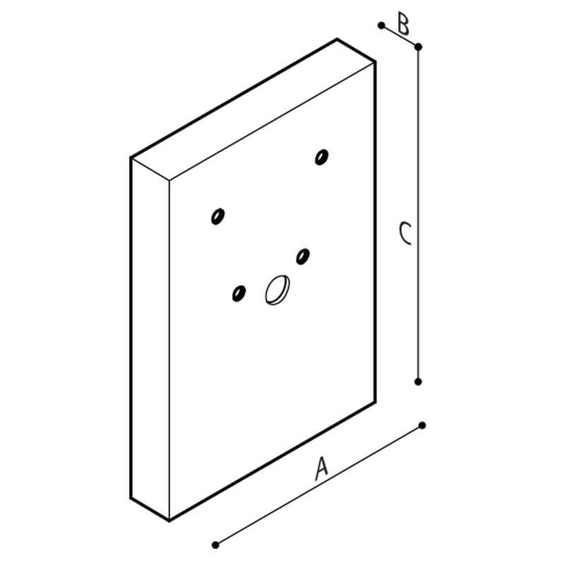 Disegno Modulo sanitario lavabo Disegno Tecnico R39PLS32