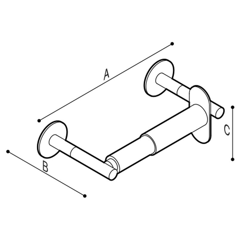 Disegno Porta rotolo Disegno Tecnico F47AGS03